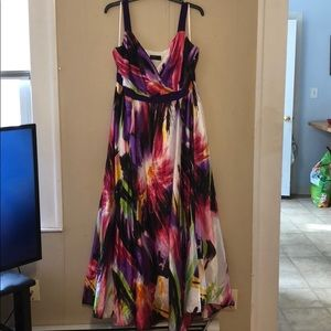 Tropical and colorful maxi dress